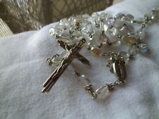 Vintage Rosary with Aurora Borealis Glass Beads