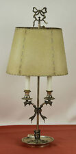 LAMPE DE TABLE. METAL SILVER. VALENTI. ECRAN DE LA PEAU. CIRCA 1950.