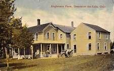 Geneva On The Lake Ohio Englemere Farm Street View Antique Postcard K32063