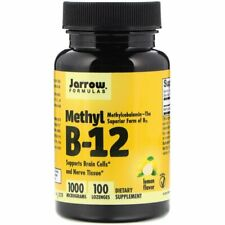 Methyl B-12 B12 1000mcg 100 Lozenges | Vegan | Lemon Flavor | Brain Cells Energy