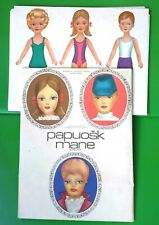 1970's-1980's USSR  Lithuanian  PAPER DOLLS  with Clothes 28 Sheets