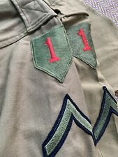 Vintage US ARMY Wool Uniform with 1st Army patches.Lot of 2 shirts.