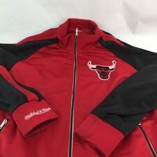 Chicago Bulls Mitchell & Ness Jacket Red Black Lined Hardwood Classics NBA XL