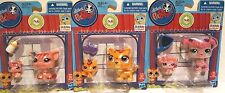 3 NEW LPS Pig, Poodle & Tiger Littlest Pet Shop Mommy and baby Bobble In Style