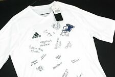 NWT Adidas Akron Zips Soccer Jersey Womens Medium White SIGNED Autographed