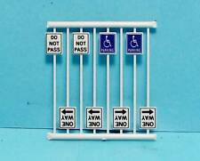HO Scale-Tichy Train Group-Scenery Accessories-8 Pcs. Misc. Road Signs-6HO