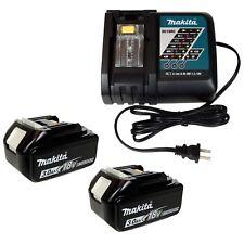 Makita DC18RC 7.2-18V Lithium Ion Battery Charger & (2) BL1830B 3.0Ah Batteries