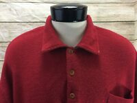 Orvis Polo Sweater Mens XL Red 100% Wool