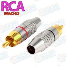 Lote Conector Metalico RCA Macho ROJO + NEGRO aereo para audio o video