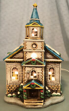 Lefton Ceramic 1986 Electric Lighted Church 05820 Handpainted Preowned