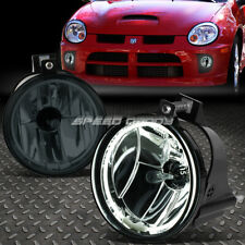 FOR 03-05 DODGE NEON SMOKED LENS FRONT BUMPER DRIVING HALO RING FOG LIGHT LAMPS