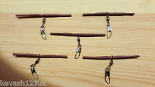 5 x Loaded Pellet Waggler Big Float Adapters.(Camo Brown) + a free Gift.