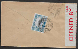 Aden 1943 censored cover to India
