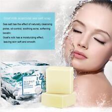 100g Sea Salt Soap Goat Milk Face Cleanser Wash Soap Acne Remove Bath Soap