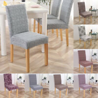 Dining Chair Covers Seat Cover Stretch Spandex Slipcovers Removable Nonslip