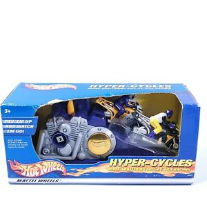 Vintage Hot Wheels Hyper Cycles Motorcycle Racing launcher 2000 Mattel purple