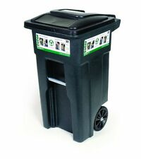 Toter 32 Gal Heavy Duty Wheeled Trash Can Cart Outdoor Container Garbage Bin New