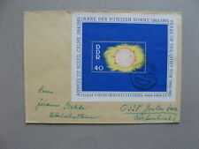 GERMANY DDR, cover 1965, S/S Quiet Sun, astronomy (2)