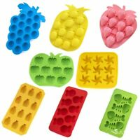 Silicone Ice Cube Tray Mold Fruit Shaped Pudding Jelly Freeze Mold DIY Bakeware