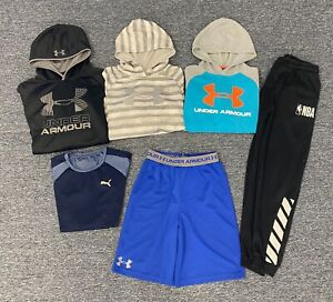 Under Armour Hoodie Sweatshirt Boys Youth Size Large XL Athletic Lot of 6 Items!