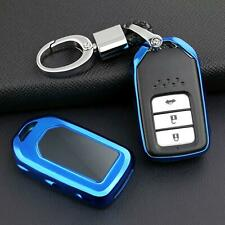 Blue Smart Car Keychain Ring Accessories Cover Holder Case Premium TPU For Honda