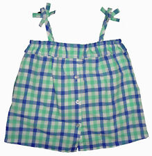 Baby Gap NWT Blue Green White Gingham Check Ruffle Top Shirt 2 2T $23