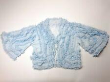Glamorous Hollywood Style Vintage 1940s/1950s Frilly Bed Jacket Size 12-14 Blue