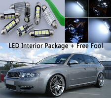 Canbus Fit Audi A4 S4 B8 avant 09 Interior Package Kit LED Light Xenon White 19X