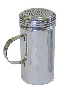 Stainless Steel Chocolate Dredger Shaker Large 16oz Flour Sugar Icing Dispenser