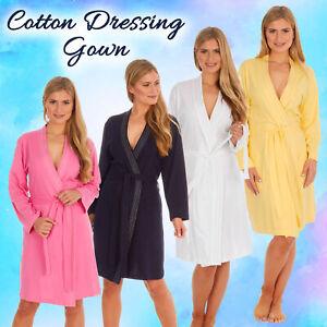Ladies Summer Robe Lightweight 100% Cotton Dressing Gown UK 8-22 SALE UK Stock