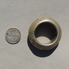 an old 33 mm round silver pendant bead ethiopia #67