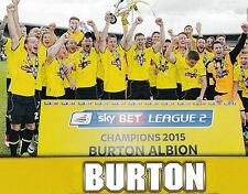 BURTON ALBION FOOTBALL TEAM PHOTO 2014-15 SEASON