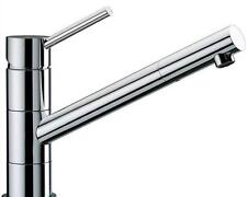 New Premium Heavy Chrome Monobloc Swivel Spout Kitchen Sink Mixer Taps (56076)