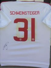 BASTIAN SCHWEINSTEIGER GERMANY SIGNED MANCHESTER UNITED ADIDAS JERSEY SHIRT AUTO