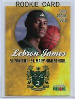 2002 ROOKIE PHENOMS LeBRON JAMES GOLD ROOKIE CARD