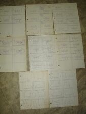Rare 1964 Oakland Raiders Plays/ Playbook Sheets for Games vs New York Jets