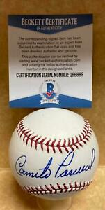 CAMILO PASCUAL TWINS/REDS SIGNED AUTOGRAPHED M.L. BASEBALL BECKETT Q66889