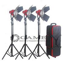 2.4m stands + 3 x 800W Pro Red Head Redhead Continuous Light Lighting
