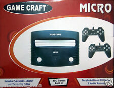 Game Craft Micro 8 Bit Tv Video Game Complete Set With 300 Built-In Games