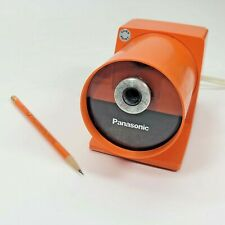 Panasonic Pana-Point KP-22A Vintage Electric Pencil Sharpener Atomic Orange 70's