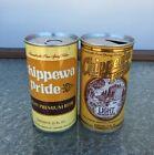 (2) Chippewa Pride Beer Cans Straight Steel Lot Leinenkugel Brewing Wisconsin