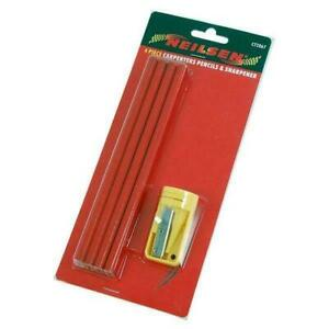 Neilsen 4 X Carpenters Pencils 1 Sharpeners Pencil Woodwork Wood Mark