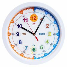 Aniclock Silent Time Teacher clock Children Wall Clock is simple & Easy to Read.