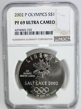 2002 P Salt Lake City Silver Dollar Commemorative Coin Certified NGC PF69 $1 US