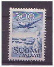 Finland - 1958, 300m Blue (Aircraft) stamp - MNH - SG 585