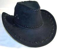1 NEW BLACK COLOR LEATHER style COWBOY  WESTERN HAT new cowgirl mens womens HT75