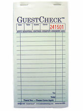 2-Part Carbon Guest Check 10 Books 500 Checks # 6000