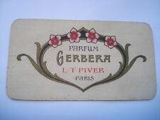 1922-23 L.T.PIVER PARIS GERBERA PERFUME CALENDER/CARD