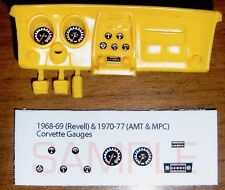 1968 to 1977 CORVETTE GAUGE FACES for 1/25 scale REVELL AMT and MPC KITS