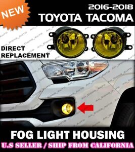 [YELLOW] for 16 17 18 TOYOTA TACOMA JDM OE Replacement Fog Lights (PAIR)